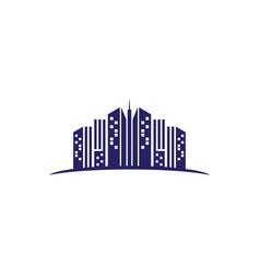 city landscape building logo vector image