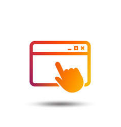 Click page icon browser window sign vector
