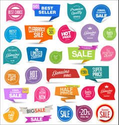 collection colorful modern badges and labels 7 vector image