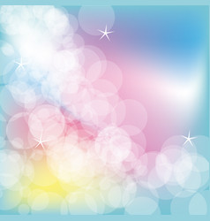 colorful glowing bubbles background design vector image