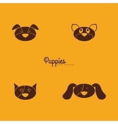 Cute dog Faces vector