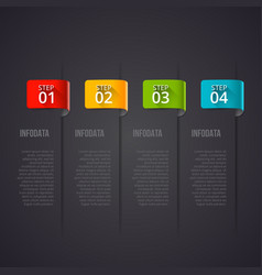 Dark infographic design template business vector