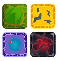 Different materials and textures for game green vector