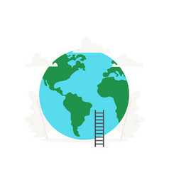 earth and planet business presentations on white vector image