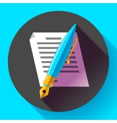Edit document sign symbol icon Flat vector image