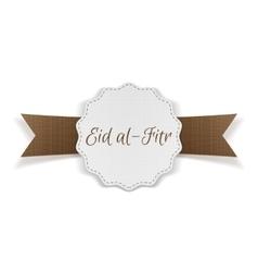 Eid al-Fitr decorative festive Banner vector