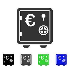 Euro banking safe flat icon vector
