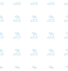 Factory icon pattern seamless white background vector