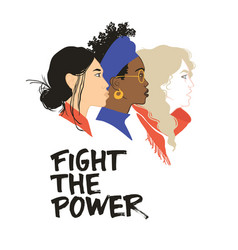 Fight the power stronger together vector