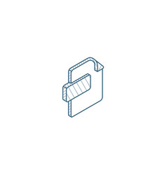 File format document isometric icon 3d line art vector
