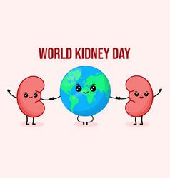 For world kidney day vector