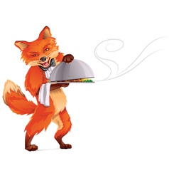 Fox waiter vector