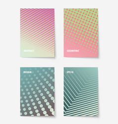 geometric cover design vector image