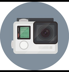 GoPro Hero 4 sport camera flat icon vector image