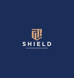 Gr letter shield icon vector