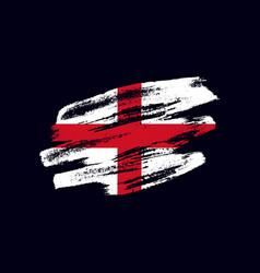 Grunge textured english flag vector