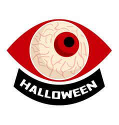 Halloween eyeball logo cartoon style vector