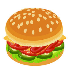 hamburger icon isometric style vector image