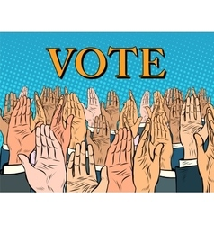 Hands up voting for the candidate vector