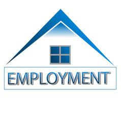 Home employment house logo vector