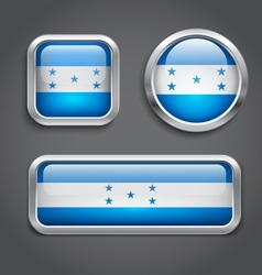 Honduras flag glass buttons vector image