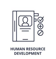 Human resource development line icon concept vector