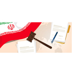 iran law constitution legal judgment justice vector image
