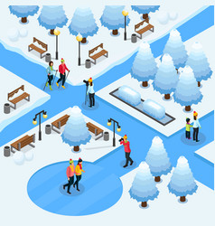 isometric freelance photography template vector image