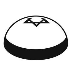 kipa hat icon simple style vector image