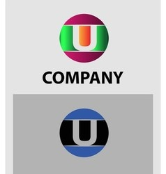 Letter U logo Icons Set Graphic Design vector