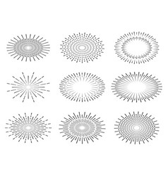 light rays of burst vector image