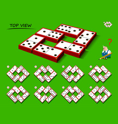 Logical puzzle game for children and adults need vector