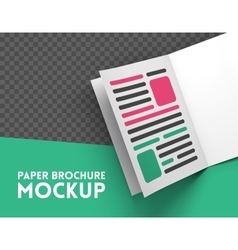 Magazine mockup on transparent background vector