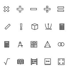 Mathematics icons 1 vector