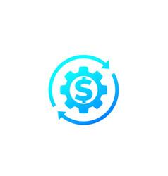 Money management financial services vector