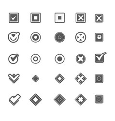 Monochrome geometric symbols of item marking vector