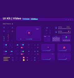 Multimedia ui elements kit vector