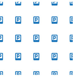 parking icon pattern seamless white background vector image
