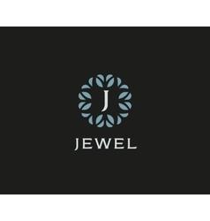 Premium monogram letter J initials logo Universal vector