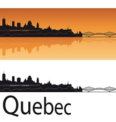 Quebec skyline in orange background vector