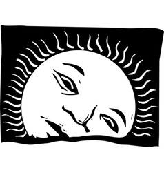 Rising Sun Face vector image