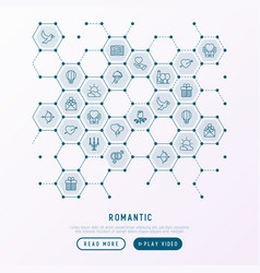 romantic concept in honeycombs vector image