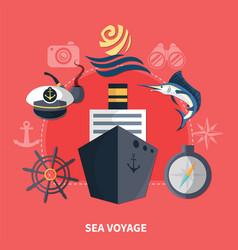 sea voyage concept vector image