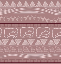Seamless ethnic pattern in African style vector