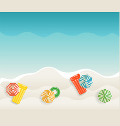 seaside tropical background vector image