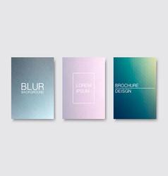 Set blur covers trendy minimal design vector