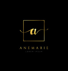 simple elegance initial letter a logo type sign vector image