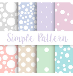 simple polka dot circle vector image