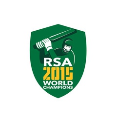 South Africa Cricket 2015 World Champions Shield vector