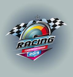 speed race 2019 vector image